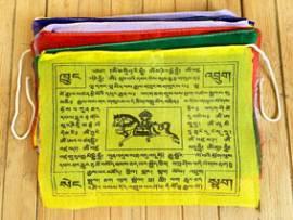 25 Buddhistische Gebetsfahnen - Windpferd  Lungta - Größe L - NEPAL Tibet - Bild vergrößern