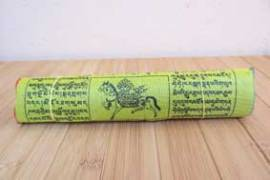 25 Buddhistische Gebetsfahnen - Windpferd  Lungta - Größe M - NEPAL - Bild vergrößern