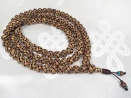 Besondere Tibetische Gebetskette – Endloser Knoten aus Yakbone – XL Mala – Nepal - Bild vergrößern