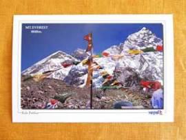 Mount Everest 8848m - Postkarte aus Nepal - Bild vergrößern