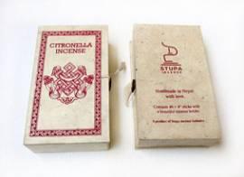 Citronella Räucherstäbchen - Hand Made with Love - Naturrein - handgerollt - Nepal - Bild vergrößern