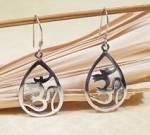 Ohrringe OM AUM Symbol - 925 Sterling Silber - Yoga Ohrschmuck - Nepal