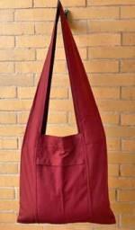 Original Mönch oder Nonnen Tasche - Schultertasche -  maroon - Nepal Tibet