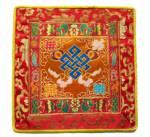 Tibetische Decke - Altardecke - Endloser Konoten - Lotus Brokat  - Lotos - gelb - Nepal