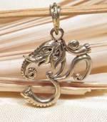 Anhänger Ganesha im OM Symbol - Elefantengott - 5 Metalle Amulett - Handarbeit aus Nepal