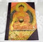 Notizbuch Buddha - Tagebuch mit Stoffeinband - 21x15cm - Lokta / Reispapier - Nepal