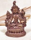 Weisse Tara - Statue aus Kupfer - White Tara - Gold plated - Nepal