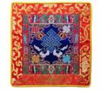 Tibetische Decke - Altardecke - Endloser Konoten - Lotus Brokat  - Lotos - blau - Nepal