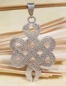 Anhänger Endloser Knoten aus 2 Schlangen Snake - 925er Sterling Silber - Nepal