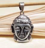 Anhänger Buddha Kopf - 925er Sterling Silber - Buddhismus - Tibet - Nepal