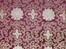 Tibetischer Brokat Stoff - Lotus - violett - Nepal