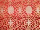 Tibetischer Brokat Stoff - Lotus - rot - Nepal