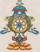Grußkarte mit Umschlag - Tashi Taghai - Handgeschöpftes Lokta Papier - Nepal