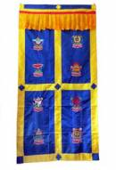 Edel - Türbehang aus Brokat - 8 Glückssymbole - Vorhang - NEPAL