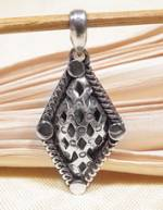 Anhänger Endloser Knoten - 925er Sterling Silber - Glückssymbol - NEPAL TIBET