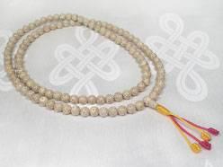 Lotus Mala - Lotos Samen Gebetskette mit Mahakala Schützer Knoten - Nepal