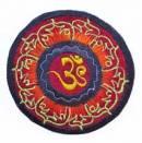 Gestickter Aufnäher - Patch - OM AUM Symbol im Lotuskranz - Nepal