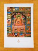 THANGKA POSTKARTE  The Life of Buddha - Buddhas Leben