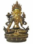 WEISSE TARA - feuervergoldet - ORIGINAL aus NEPAL