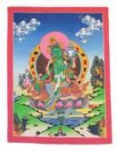 Thangka Grüne Tara - Green Tara - die Beschützerin - handgemalt - Nepal Tibet