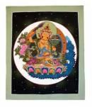 Thangka BUDDHA Manjushri - Herr der Weisheit - handgemalt - Nepal