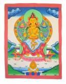 Thangka BUDDHA Maitreya - Zukunftsbuddha - handgemalt - Nepal