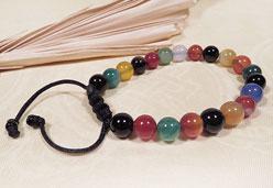 Edelstein Armband - Perlen Mix - Jade - Onyx - Karneol - Nepal