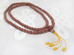 Gebetskette Rudraksha Mala - Mahakala Schützer Knoten - verstellbar - NEPAL
