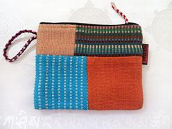 Patchwork Tasche - Vielzweck Beutel - Handgewebt - 100% Baumwolle - Project Nepal #8