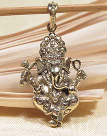 Anhänger Ganesha Elefantengott - 5 Metalle Amulett - Handarbeit aus Nepal