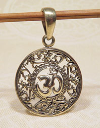 Anhänger OM AUM Symbol - 5 Metalle Amulett - Handarbeit Nepal