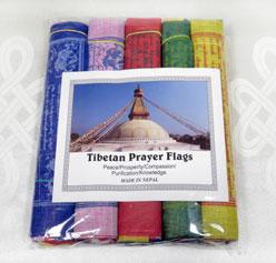5 Rollen Tibet Gebetsfahnen - Windpferd Lungta Tara Buddha - 5x10 - Nepal