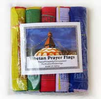 5 Rollen Tibetische Gebetsfahnen - Windpferd Tara Buddha - 5x10 - Nepal
