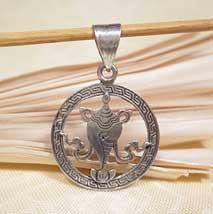 Anhänger Muschelhorn - 925er Sterling Silber - Tibet Glückssymbol - Nepal