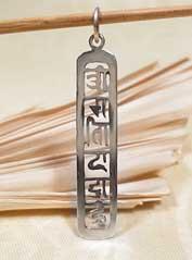 Anhänger Om Mani Padme Hum - 925er Sterling Silber - Tibet Mantra - Nepal