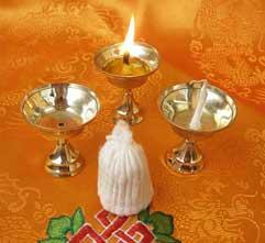Original Tibetische BUTTERLAMPE - Dipa - 3 Stück - Dochte - Nepal
