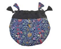 Schmuck Tasche - Beutel aus Brokat - Nepal - blau