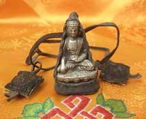 BUDDHA Shakyamuni Gautama in Yakleder Hülle - Nepal - Tibet