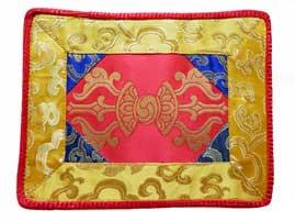 Tibetische Decke - Altardecke - Brokat - Dorje Vajra - rot - Nepal