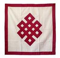 Tischdecke Endloser Knoten - Glückssymbol - maroon - Nepal