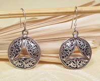 Ohrringe - filigran - 925er Sterling Silber - rund - Nepal