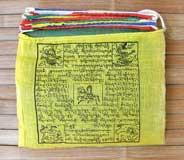 25 traditionelle Tibetische Gebetsfahnen - Größe M - Baumwolle - NEPAL