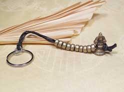 Origineller Tibetischer SCHLÜSSEL ANHÄNGER - Ghanta / Glocke