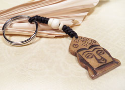 Schlüssel Anhänger - Buddha Kopf - Yakbone - Nepal
