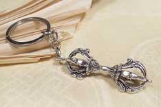 Schlüssel Anhänger - Dorje Vajra Diamantzepter Donnerkeil - Nepal