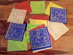 Tibetische Gebetsfahnen - Handgeschöpftes Lokta Papier - Windpferd - NEPAL