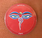 MAGNET PLATTE - Buddha Augen - NEPAL - TIBET