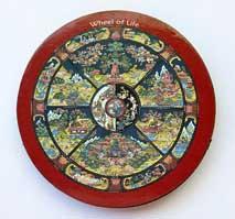 MAGNET PLATTE - Wheel of Life / Lebensrad - NEPAL - TIBET