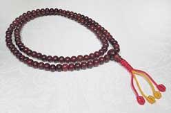 Gebetskette - rotes Sandelholz - Mala - NEPAL